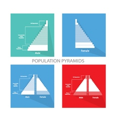 Detail of population pyramids graphs depend on age vector