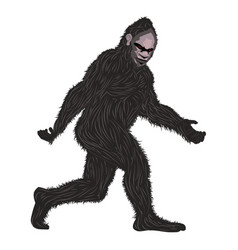 Detailed hairy bigfoot vector