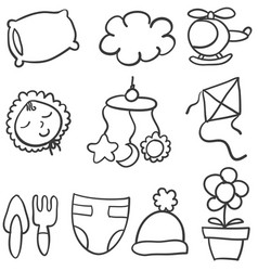 Doodle of baby theme stock vector