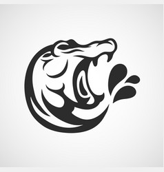 hippopotamus logo icon design vector image