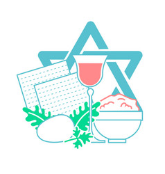 icon holiday pesach vector image