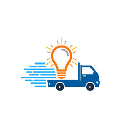 idea delivery logo icon design vector image