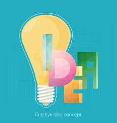 Idea text creative idea concept template design vector