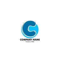 initial letter c logo template design vector image