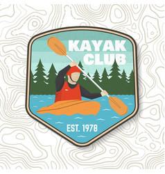 kayak club patch concept vector image