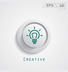 Lamp creative circle icon vector
