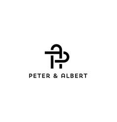 Letter p with a logo design concept vector