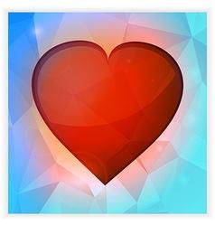 Love heart square banner vector