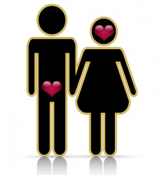 male-female symbol of love vector image