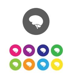 Minimal brain icon vector