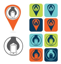 Mobile development icon set flat design vector