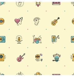 Music seamless pattern Rock punk jazz background vector