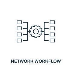 Network workflow outline icon thin line style vector