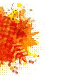 Orange With Blobs Autumn Leafs vector