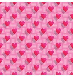 Pink hearts seamless valentine background vector image