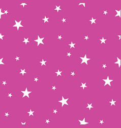 pink tiny stars simple geometric repeat pattern vector image