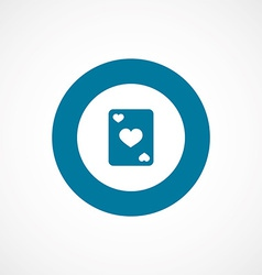 Poker bold blue border circle icon vector