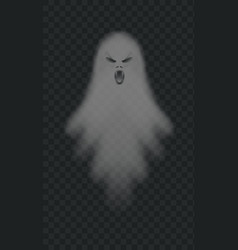 realistic spooky ghost isolated shadow vector image