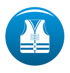 Rescue vest icon blue vector