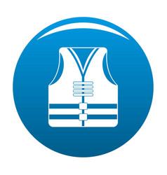 rescue vest icon blue vector image