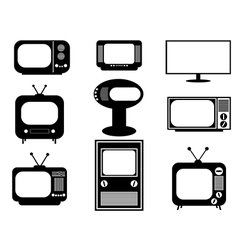 Retro and modern TV vector