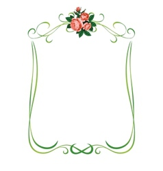roses frame pattern background vector image vector image