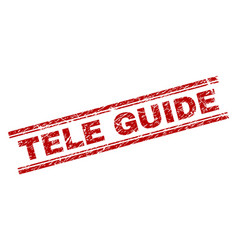 Scratched textured tele guide stamp seal vector