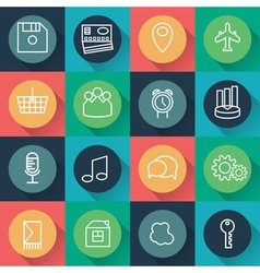 Set of icons of business and entertainment theme vector