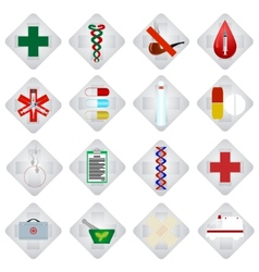 Set of medical icons-2 vector image