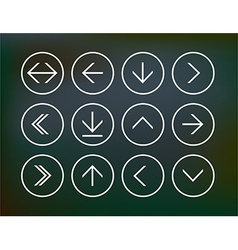 Set of round arrow icons vector image