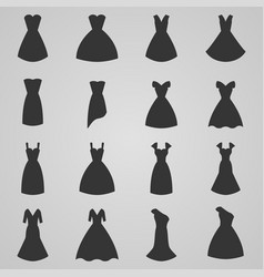 Set of women dress vector