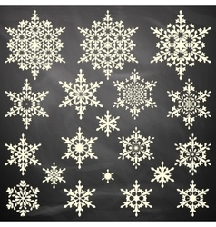Snowflakes collection on board EPS 10 vector image