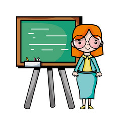 teacher teaching class lesson in the backcoard vector image
