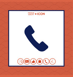 telephone handset symbol telephone receiver icon vector image