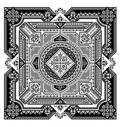 tribal art bandana print ethnic geometric print vector image