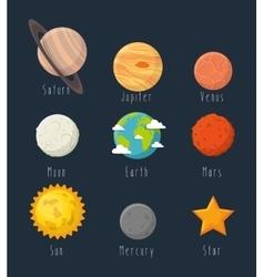 Universe planets space concept vector