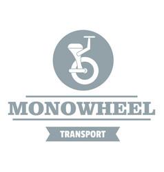 Urban mono wheel logo simple gray style vector