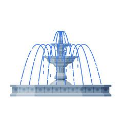 Vintage fountain urban infrastructure design vector
