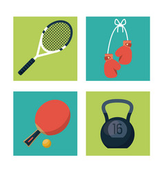 white background with squares set of sports vector image