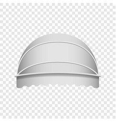 White dome awning mockup realistic style vector