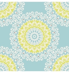 winter snowflake mandala pattern vector image
