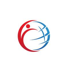 Wire world logo template vector