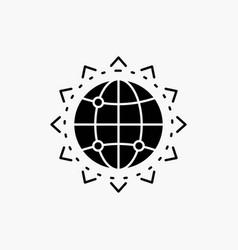 world globe seo business optimization glyph icon vector image