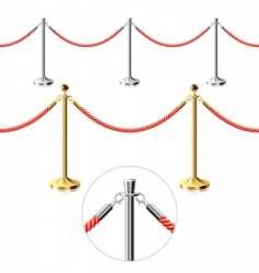 rope barrier vector image vector image