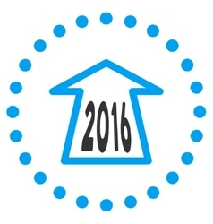 2016 ahead arrow icon vector