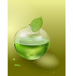 apple juice vector image vector image