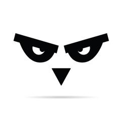bird animal eye vector image