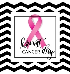 breast cancer awareness pink ribbon vector image
