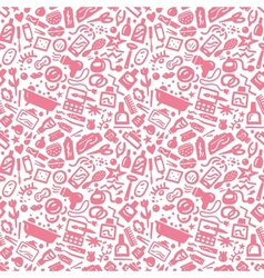 Cosmetic - seamless background vector