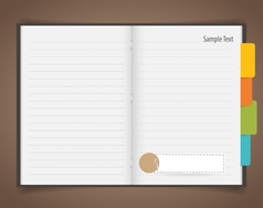 Paper sheet and Cute note papers Business working vector image vector image